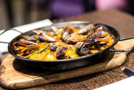 Amantia Restaurant - Tapas and Paella with Wine for Up to Six - Save 43%