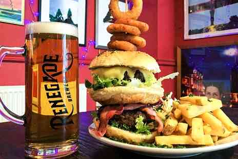 The Grove - Choice of Burger with a Glass of Wine or Pint of Beer for Up to Four - Save 34%
