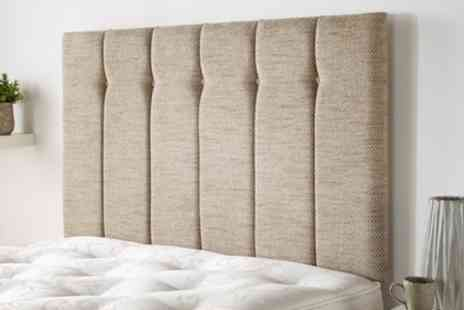 Groupon Goods Global GmbH - Grassholm Headboard in Wallace Twill Fabric in Choice of Colour and Size With Free Delivery - Save 75%