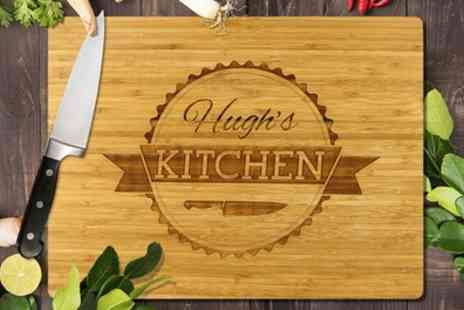 Fabness - Personalised Bamboo Cutting Boards in Choice of Size - Save 81%