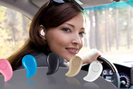 H&C Electronics - Mini Wireless Bluetooth 4.0 Stereo Earpiece Five Colours - Save 74%