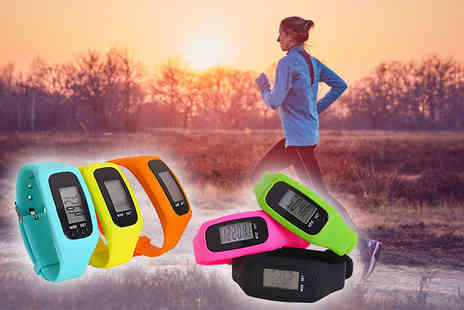 Toy Meets World - Four In One fitness tracker choose from blue, yellow, orange, pink, green or black - Save 74%