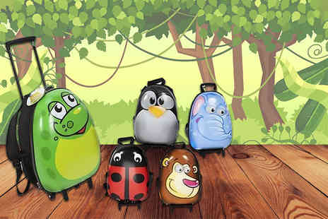 Heads Group - Kids animal suitcase on wheels choose from five fantastic designs - Save 26%