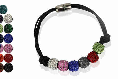 Pearl Info - Crystal Ball Bracelet in 12 Colours - Save 79%