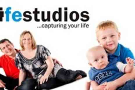 Life Studios - Family Studio Photo Shoot With Framed Print - Save 94%