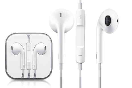 GPSK - Pair of Apple EarPods with built in mic, remote and 3.5mm headphone plug - Save 51%