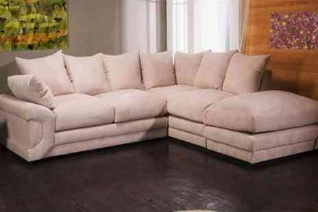 Global Furniture Wholesale - Luxury Camberly fabric corner sofa - Save 68%
