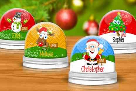 Dinkleboo - Personalised Christmas Snow Globe - Save 60%
