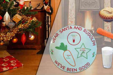 Xmas Letters - Christmas Eve Food and Drink Plate - Save 30%