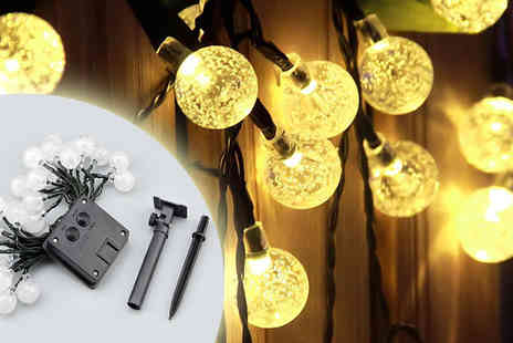 J & Y - LED Crystal Ball Solar String Lights - Save 67%