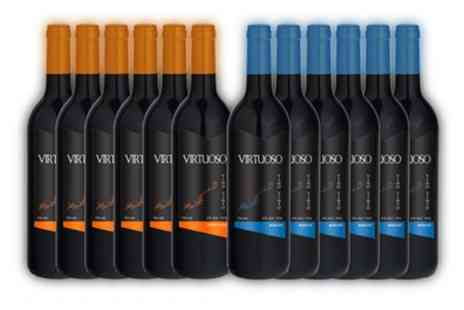 Karpe Deal SL - 12 Bottle Mixed Case of Virtuoso Merlot and Pinot Noir Red Wine With Free Delivery - Save 52%
