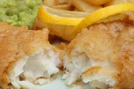 Whelans Fish & Chips - Fish and Chips with Peas, Curry or Gravy for Two - Save 33%