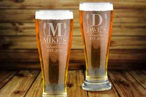 Fabness - One or Two Personalised Beer Glasses - Save 64%
