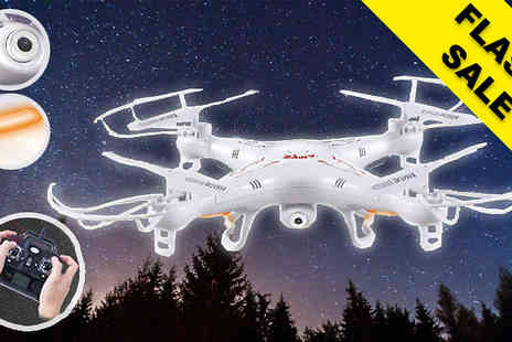 Gizmo Gadgets - RC Quadcopter Aircraft Drone with HD Camera - Save 78%