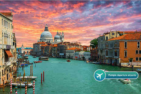 KPX Travel - Two or three night 4 Star Venice break with flights and a bottle of wine on arrival - Save 52%