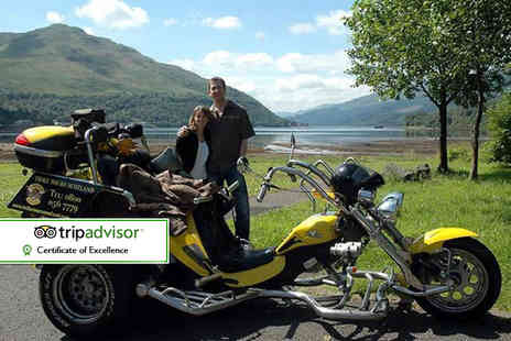 Trike Tours Scotland - One hour trike tour for two including equipment, photos, hot drink and shortbread - Save 60%