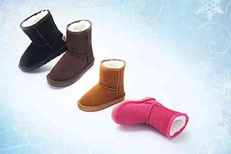 Evaniy Accessories - Pair of childrens wool lined boots choose from four colours - Save 75%