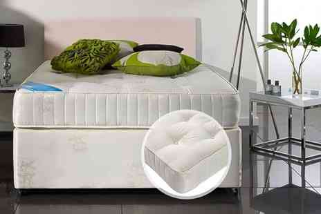 FurnitureStopUK - Single, small double or double or king size luxury orthopaedic bonnell sprung mattress - Save 79%
