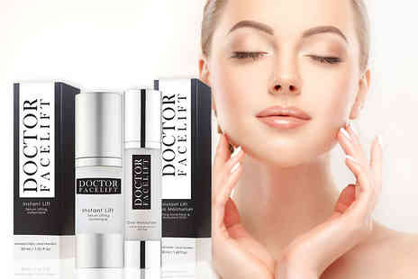 Skin Chemists - 30ml tube of Instant Lift serum or 50ml tube of moisturiser or both - Save 82%
