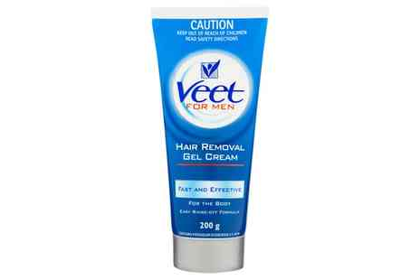 Groupon Goods Global GmbH - One, Two or Three Veet For Men Hair Removal Gel Creams 200ml - Save 0%