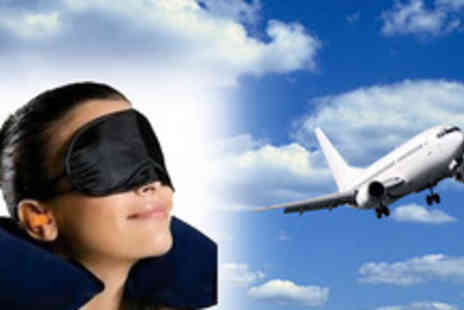 Silicon17 - Travel pillow kit including earplugs and an eyemask - Save 60%
