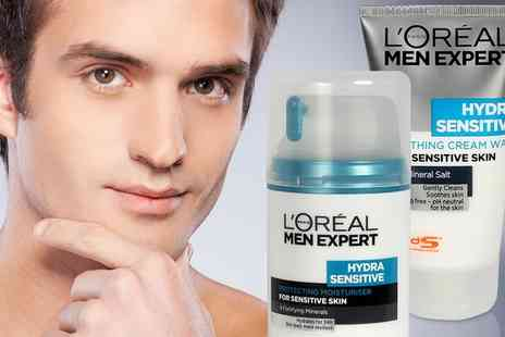 Groupon Goods Global GmbH - LOreal Mens Expert Hydra Sensitive Bundle - Save 0%