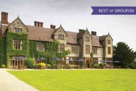 Billesley Manor Hotel - One or Two Nights Stay for Two with Breakfast, Wine and Leisure Access - Save 0%