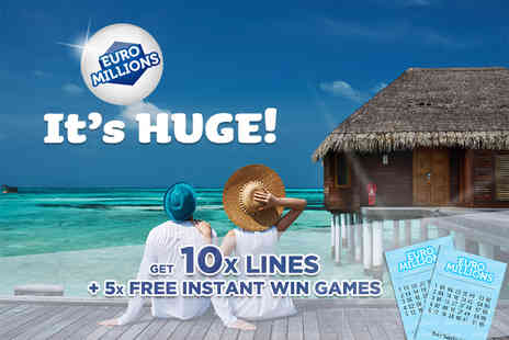 Hatchster - 10 syndicated EuroMillions lines and five instant win games from Lotto Social - Save 75%