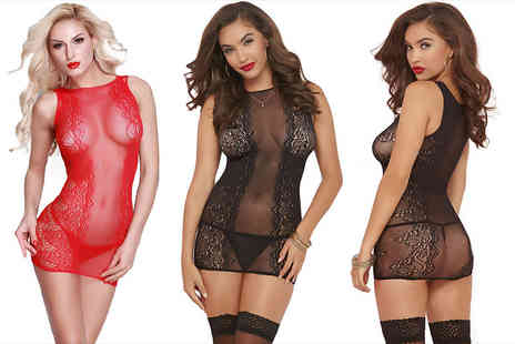 Who Runs the World - Sheer lace camisole choose red or black - Save 80%