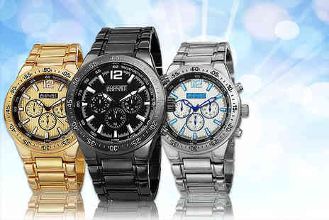 Online Deal - Mens August Steiner AS8128 watch choose from three designs - Save 86%