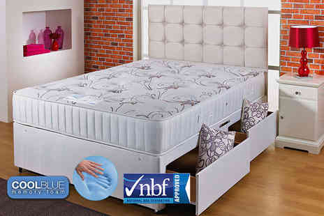 Cheap Mattresses - 3000 pocket sprung and CoolBlue memory mattress - Save 85%