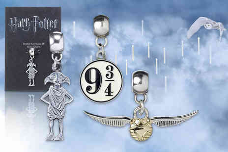 Aspire - Harry Potter silver plated Dobby Platform 9¾ or Golden Snitch charm - Save 58%