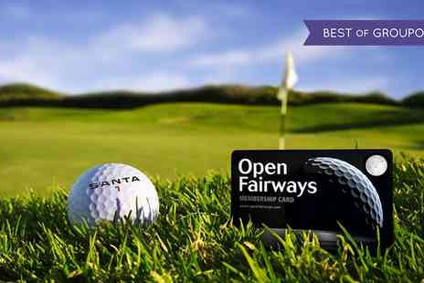 Open Fairways - Worldwide Privilege Card with 18 Month Golf Membership - Save 74%