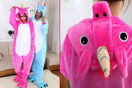 EF Mall - Unisex unicorn onesie choose blue or pink - Save 69%