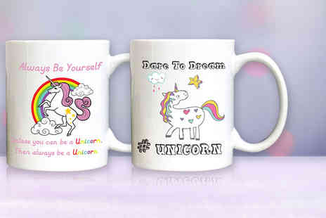 Deco Matters - Unicorn mug choose from nine designs - Save 60%