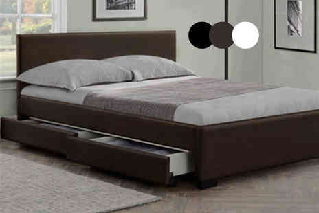 Giomani Designs - Double modern Italian storage bed with mattress - Save 83%