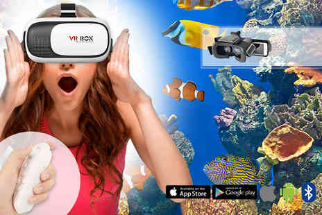 ViVo Technologies - Virtual reality headset with an integrated Bluetooth remote control - Save 83%