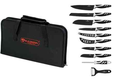 Groupon Goods Global GmbH - 11 Piece Knife Set in Choice of Colour with Zip Bag - Save 0%