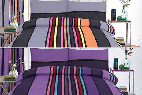 E4Emporium - Single stylish striped duvet set - Save 76%