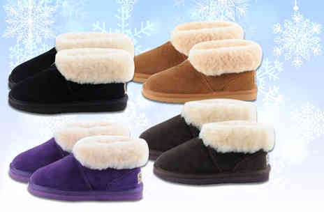 Evaniy Accessories - Pair of sheepskin ankle slippers choose from four colours - Save 70%