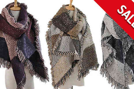Marcus Emporium - Oversized Patchwork Scarf with Free Delivery - Save 63%