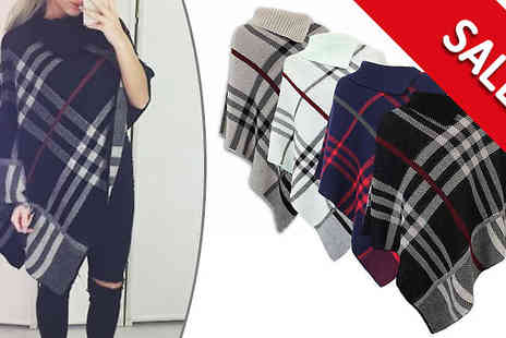 Factors - Tartan Poncho in 4 Colours - Save 0%