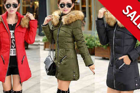 Marcus Emporium - Faux Fur Hooded Puffer Parka in 3 Colours - Save 80%