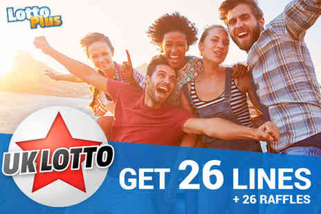 Lotto Plus - 26 lines over two draws with two shares - Save 67%