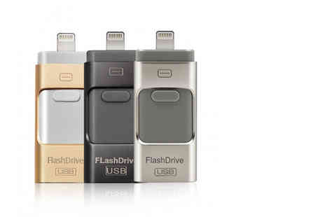 Bart Group - 16GB iFlash drive for iPhone or iPad, £15 for a 32GB, or 64GB drive - choose - Save 78%