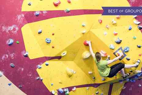 The Climbing Academy - Indoor Climbing Package with Shoe Hire and Return Visit - Save 65%