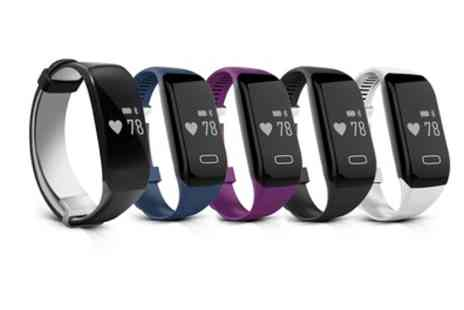Groupon Goods Global GmbH - Smart Bluetooth Sports Activity Bracelet with Heart Rate Monitor in Choice of Colour - Save 75%