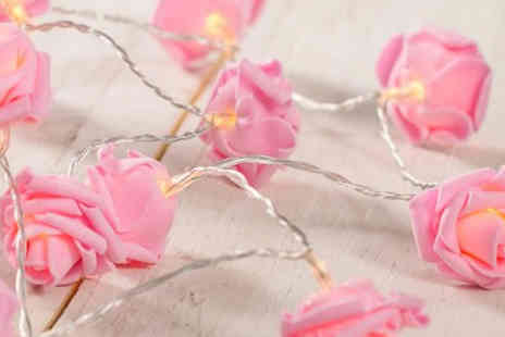 eBuzz - 20 Pink Rose Fairy Lights - Save 77%