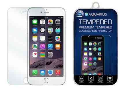 Groupon Goods Global GmbH - One or Two Tempered Glass Screen Protectors from iPhones 5 to 7 Plus - Save 56%