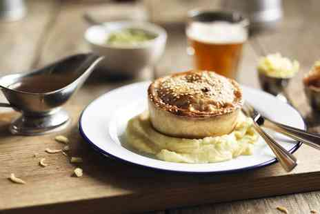Cotham Porter Stores - Award Winning Pie with Mash, Gravy and Pint of Beer of Glass of Wine for Two or Four - Save 0%